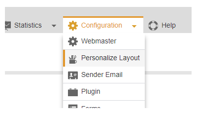 Personalize Layout - personalize your Mailpro experience