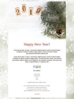 newsletter templates for happy new year 2019