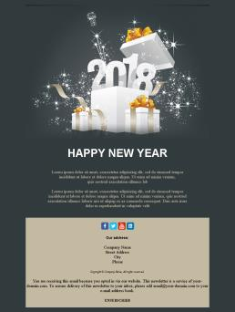 newsletter templates for happy new year 2018