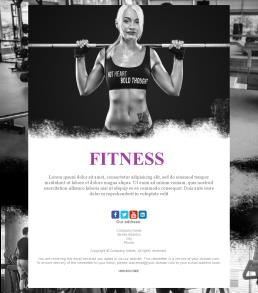 newsletter templates for gyms and fitness centers mailpro