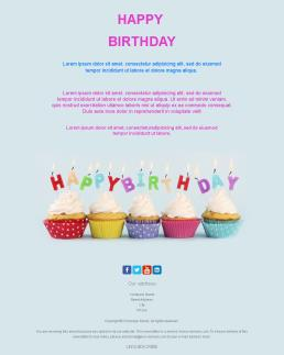 Newsletter Templates For Happy Birthday Messages