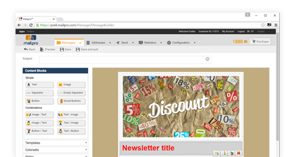 create your newsletter now it s so simple with mailpro