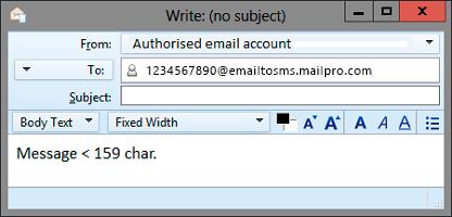 E-Mail zu SMS-Gateway mit Mailpro